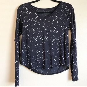 GAPBody Navy Blue with White Stars Long Sleeve Top